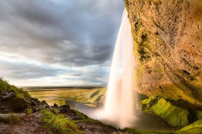 Seljalandsfoss sunset by marcoimmervoll - Unforgettable Landscapes Photo Contest by Zenfolio