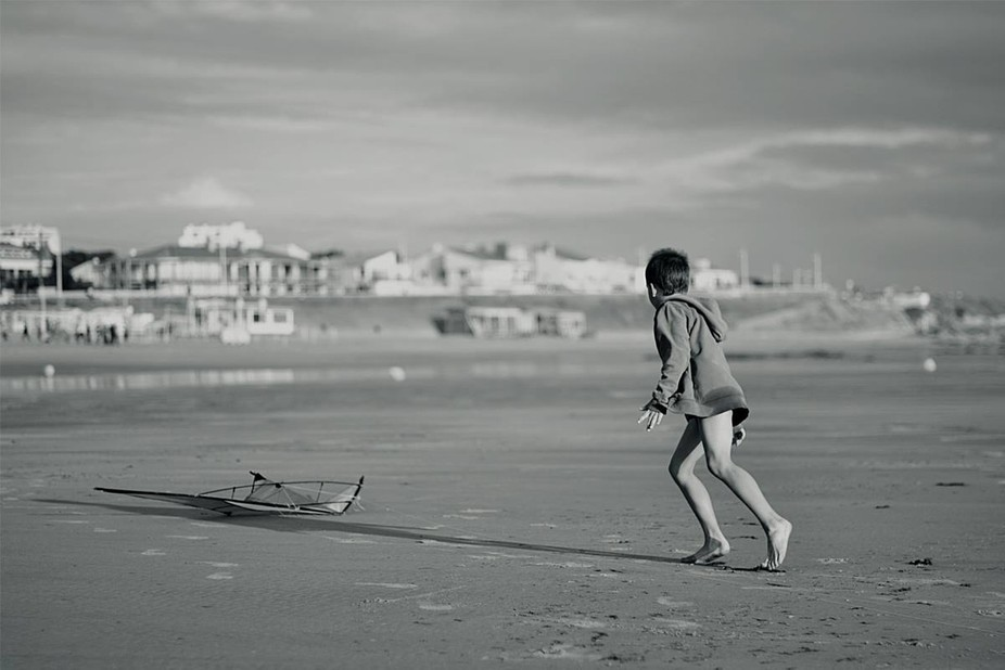 This was made while my nephew tried for the first time in his life fly a kite. At the French west...
