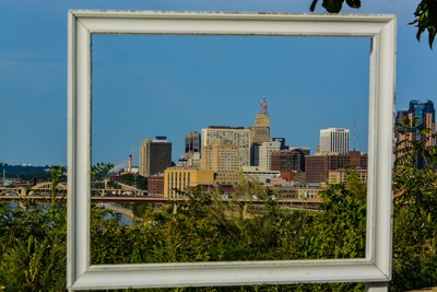 Framed St. Paul Skyline.