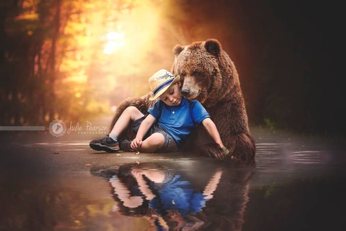 Bear with me.. by juliepearson - Getting Creative Photo Contest