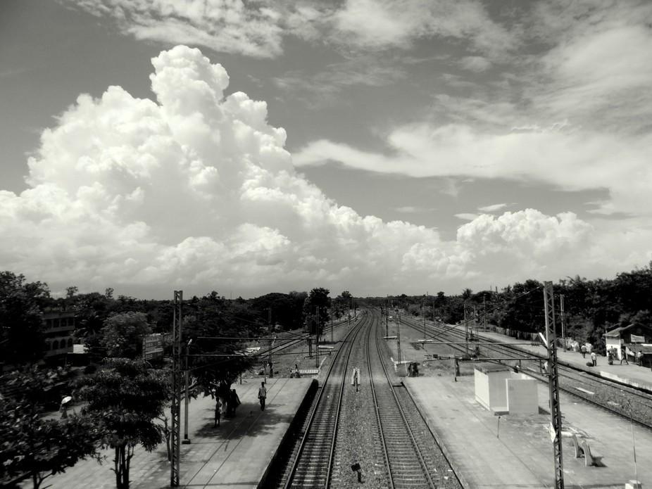 View from a Rail Bridge