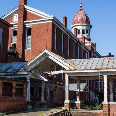 """This is the back side of the Babcock Building on the old South Carolina State Hospital Grounds.  Constructed during the latter half of the nineteenth century, the Babcock Building was the """"new asylum"""" for the South Carolina Lunatic Asylum."""