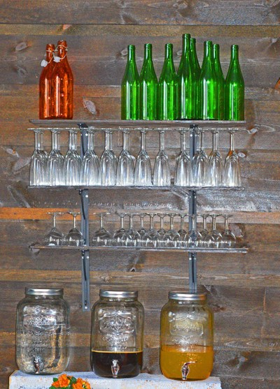 Glassware on the wall