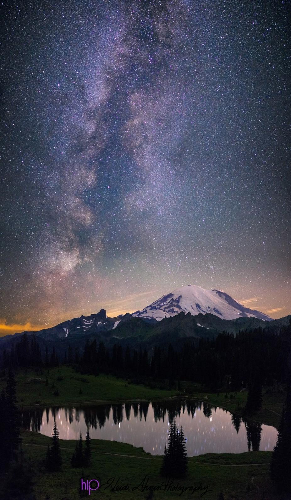 Mt Rainier Milkyway by HIPHeidiIhnen - The Zen Moment Photo Contest