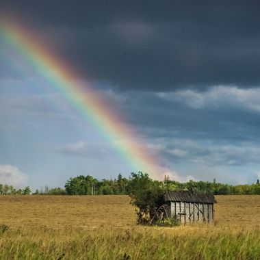 Rainbow in the Prairies, Canada
