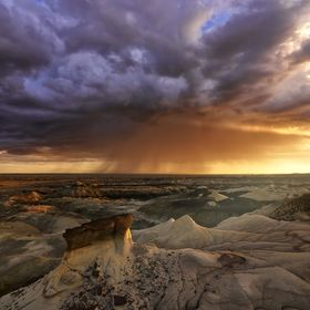 My Recent Trip out to Bisti/De-Na-Zin Wilderness was amazing!! This picture shows a Storm that I almost slept in on! ---- Pretty much woke up sup...