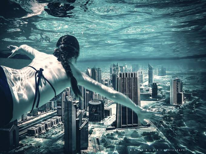 city diving by maperick - Science Fiction Photo Contest