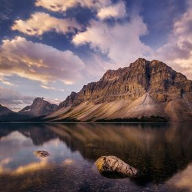I've been wanting to visit Bow Lake to photograph Crowfoot Mountain for years, and finally got my chance on September 1, 2016!  It was as be...