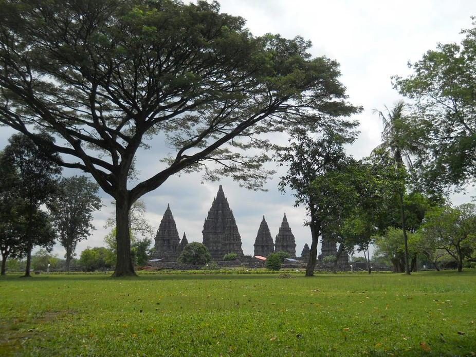 Culture and nature has collaborated. The location in area of Prambanan Temples, Indonesia.