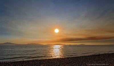 Sunset, San Pablo Bay