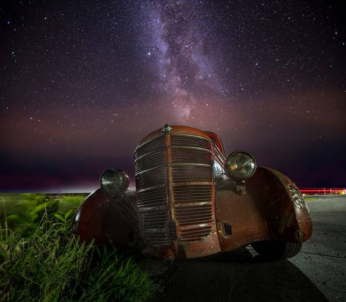 International 1941 On A Peaceful Night by GigiJim08 - Capture The Milky Way Photo Contest