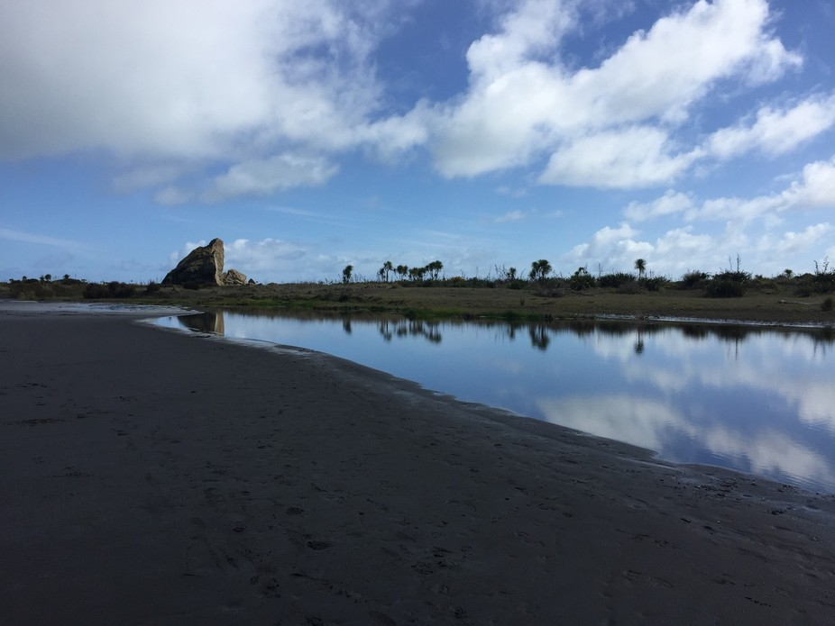 At Whatipu Beach, Auckland, NZ