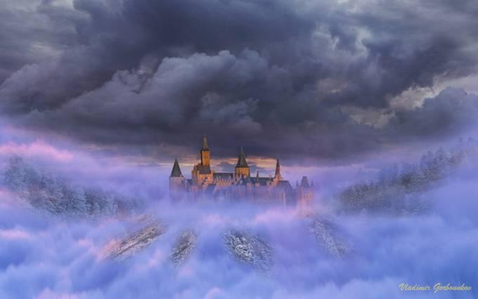 Chateau dans la brume by Ragdollcat - Mist And Drizzle Photo Contest
