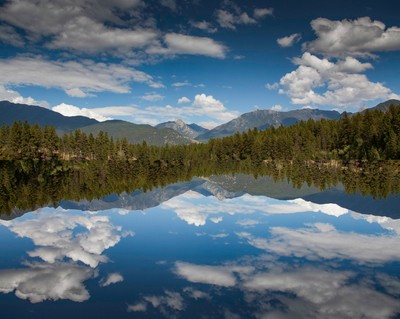 campbell lake mirrored
