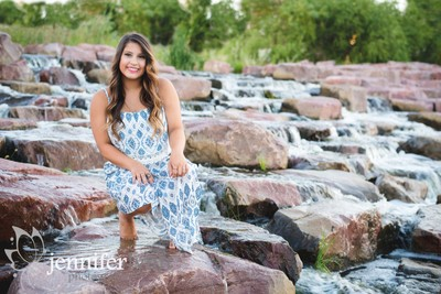Senior Girl River Rock