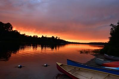 Sunset over Grundy