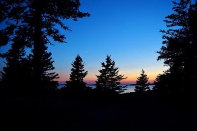 Sunset Silhouette on Sheephead Island