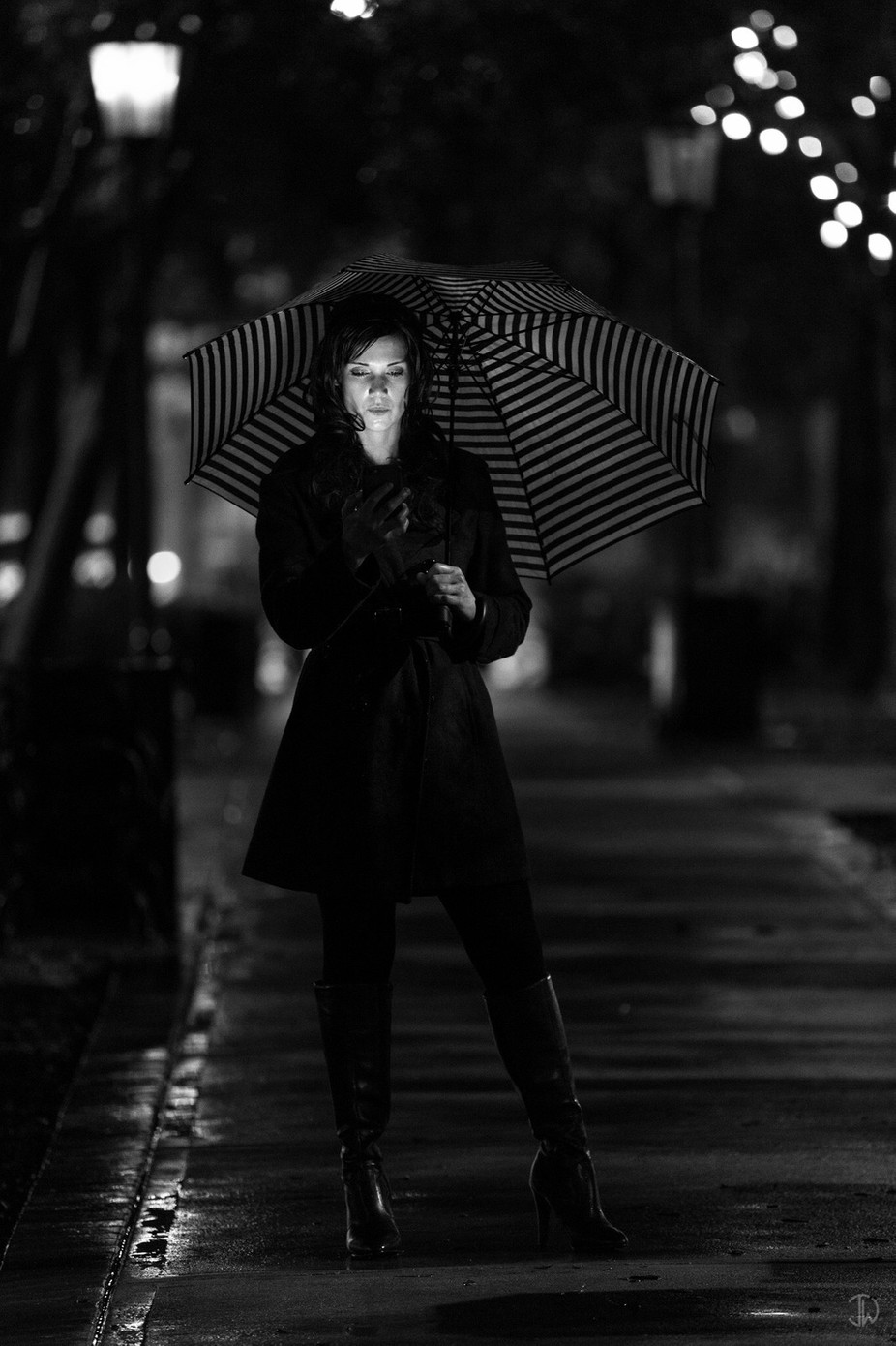 Status Update: Soaked by jonwolding - City Life In Black And White Photo Contest