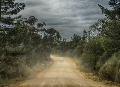 Exciting Aussie trip on a typical outback Aussie road