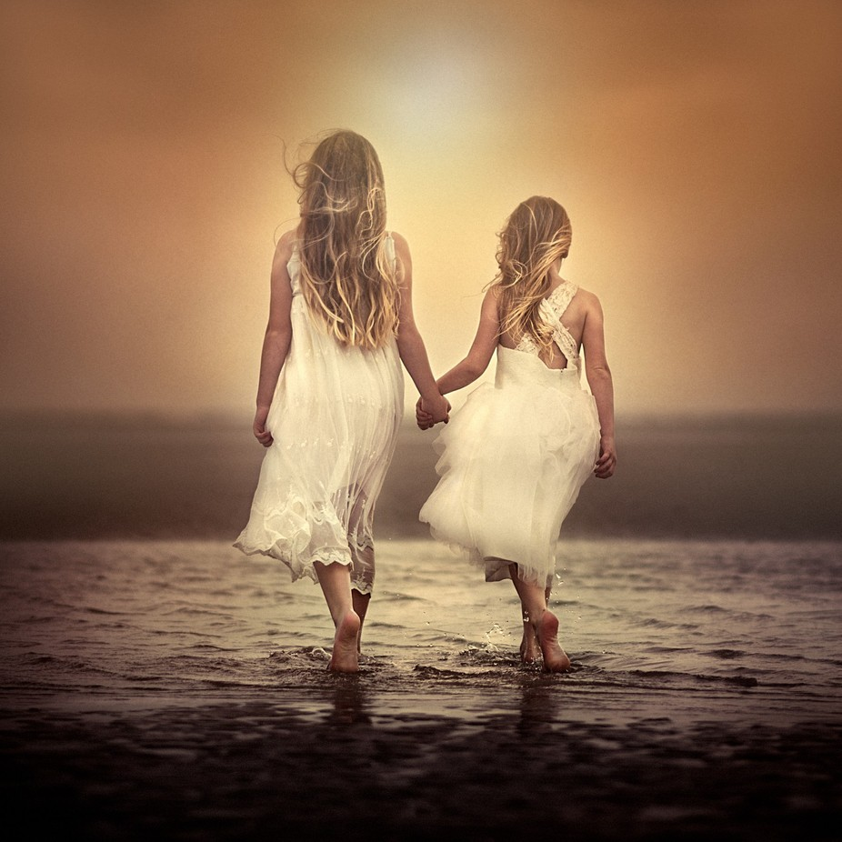 Walk with me on the beach by Victoria_Anne - Kids And Water Photo Contest