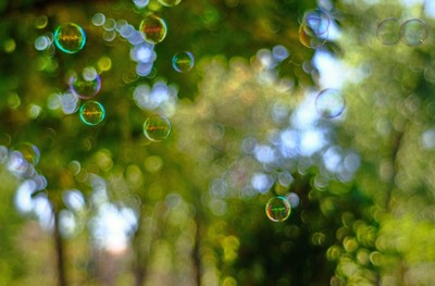 Bokeh  and bubbles brothers