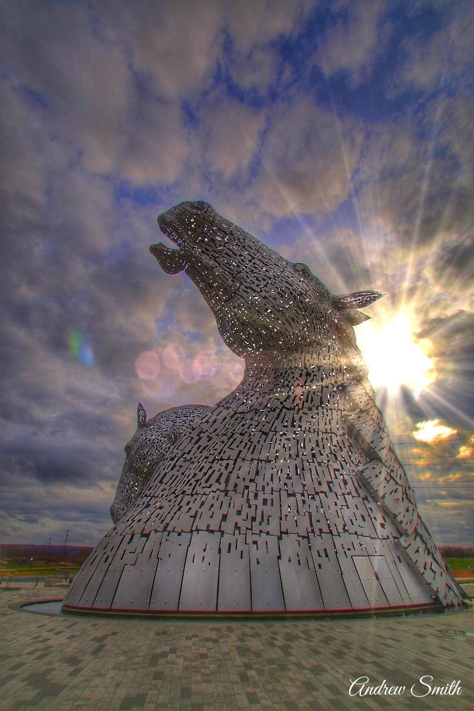 kelpies sun by andrewsmith_5524 - Large Photo Contest