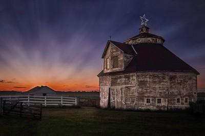 Round Barn Sunset