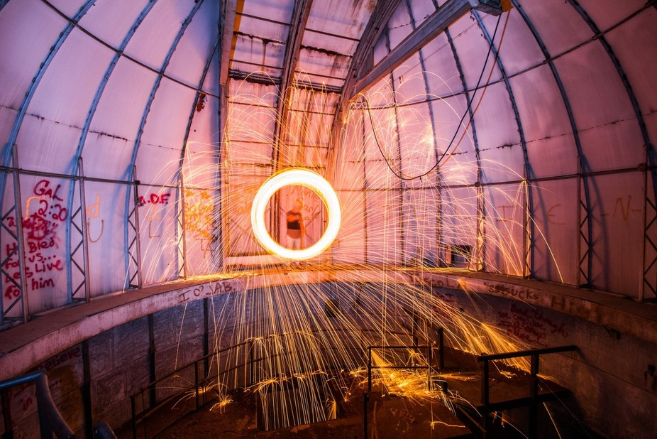 The stars may not be seen from a scope, but the show continues inside this observatory that has n...