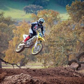 Carey Hart playing in the chocolate cake at Zaca Station MX