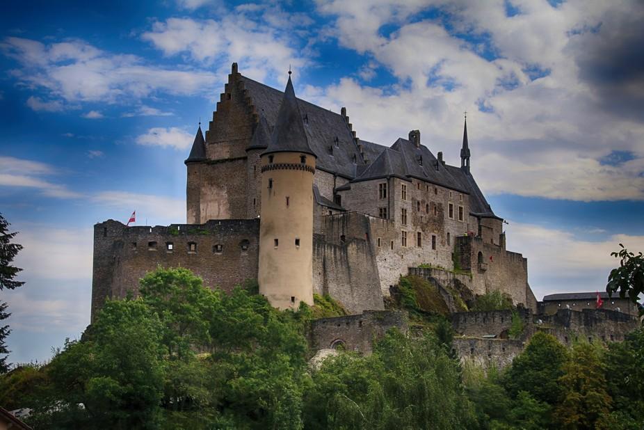 A view of the majestic Vianden Castle