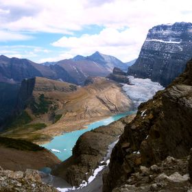 A short, steep detour off of Highline Trail brings the adventurous to a dip in the Continental Divide that allows a view of Grinnell Glacier, Gla...