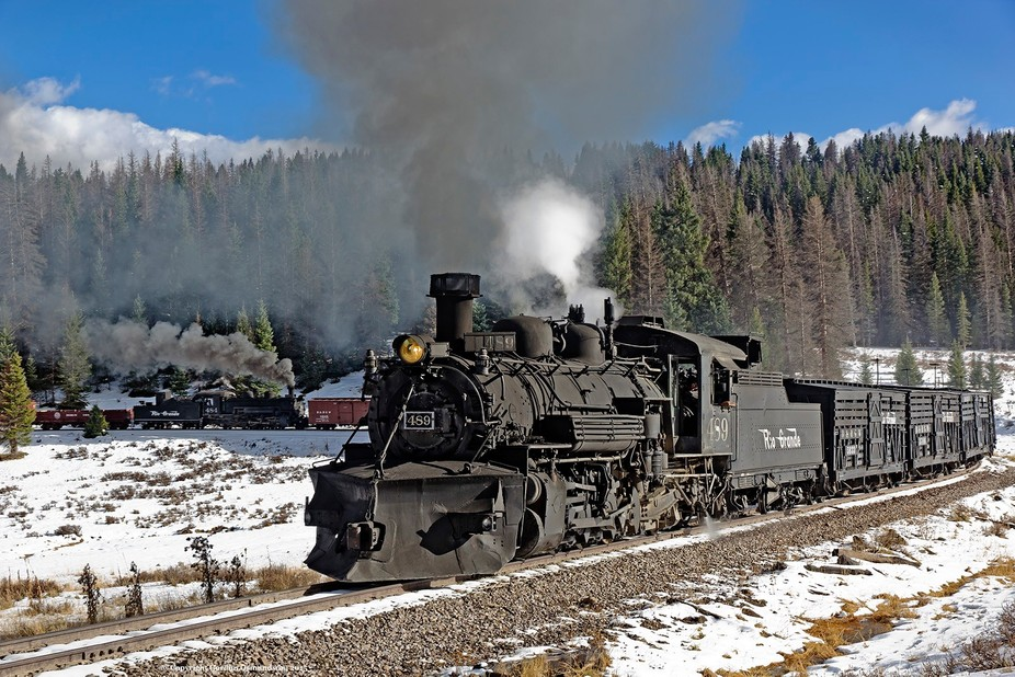 A photographer's special freight on the Cumbres & Toltec Scenic Railroad