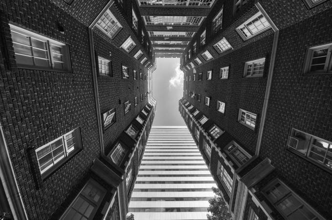Where old meets new by johannafroese - Structures in Black and White Photo Contest