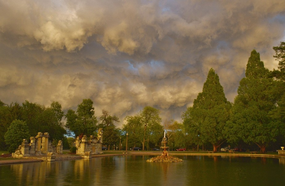 This was taken at Tower Grove Park in St. Louis,Mo. after a strong storm had rolled through.