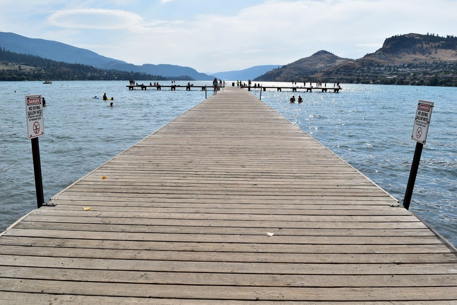 At Kal Beach in Kelowna, BC. I love this beach so much, The water is nice, clear and very blue an...