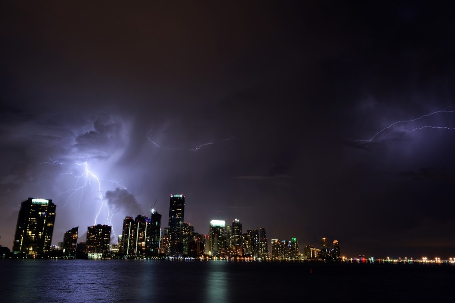 A great electrical show over Miami!
