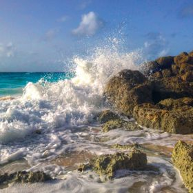 Waves crashing in Barbados.  This moment changed the direction of my life.