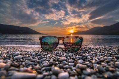 My sunglasses at sunset