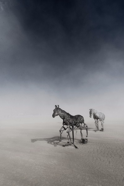 Escaping a sand storm