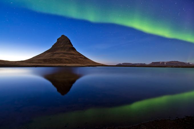 Kirkjufell and aurora, Iceland by MichalCandrak - Sweeping Landscapes Photo Contest