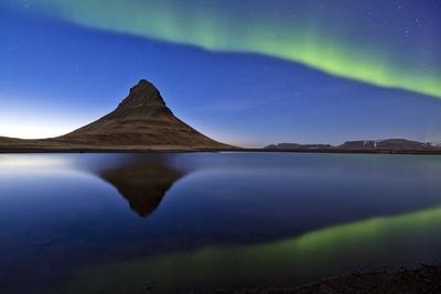 Kirkjufell and aurora, Iceland