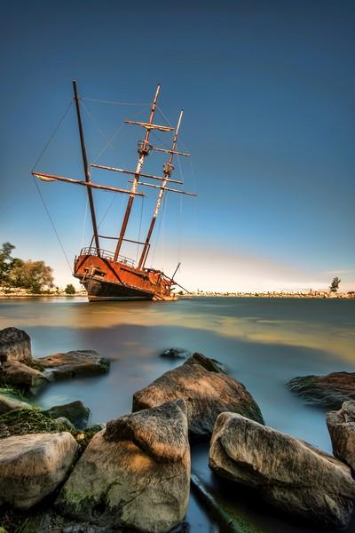 La Grand Hermine ship in, Jordan Harbour, Ontario