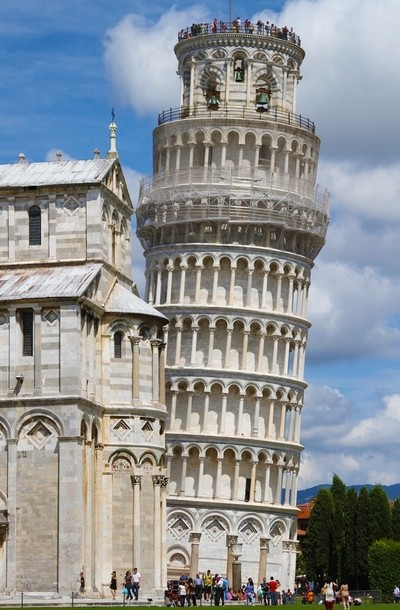 Leaning Tower and Cathedral in Pisa, Italy