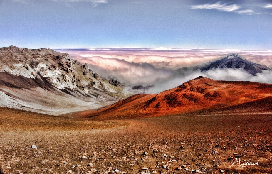 Haleakala crater Maui, Hawaii almost 10,000 feet. Alone this day -none others on the trails. Peac...