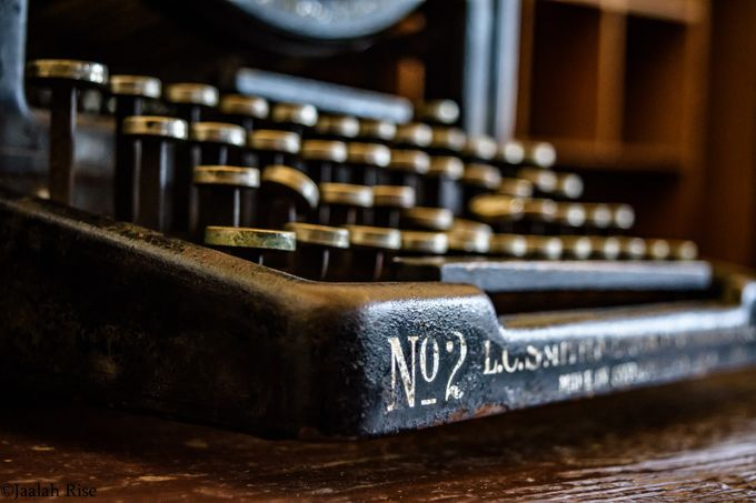 An Abandoned Typewriter by jrise - Letters And Words Photo Contest