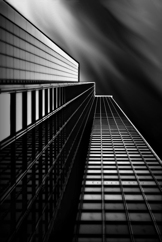 W in the Sky by kapuschinsky - Structures in Black and White Photo Contest