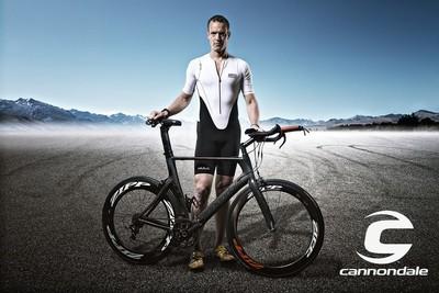 Ironman Triathlete with Cannonade Pro TT Bike