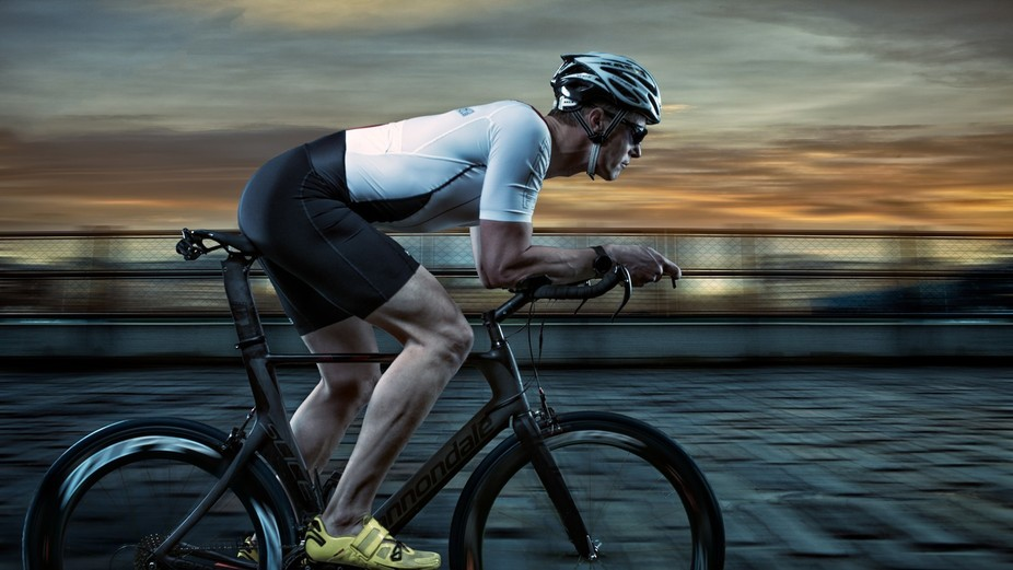 Composite image shot to increase the profile of a World Triathlon Competitor.