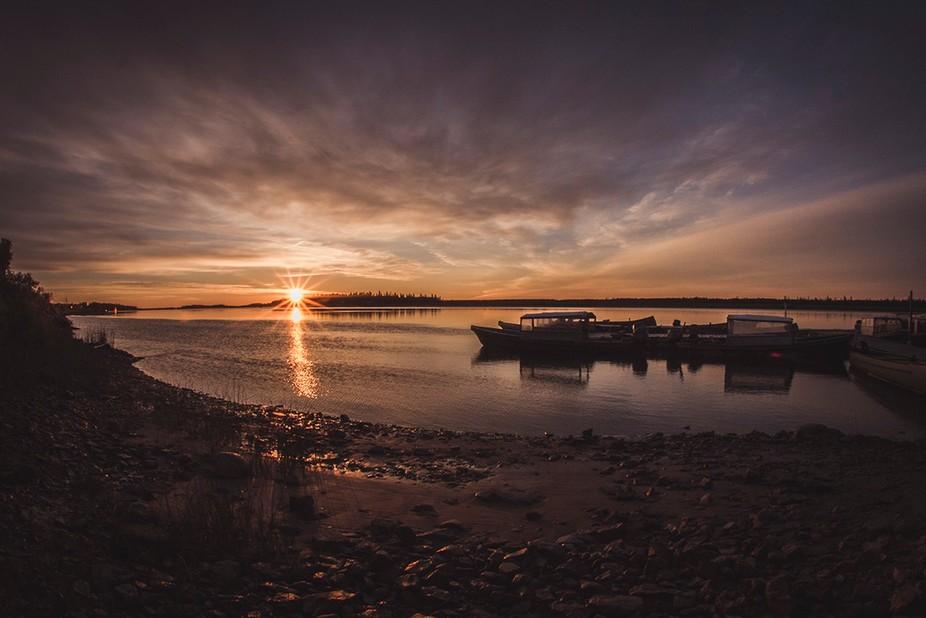 Sunrise over the Moose River