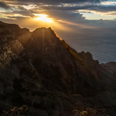 View from the little village Arure on the canary island La Gomera.